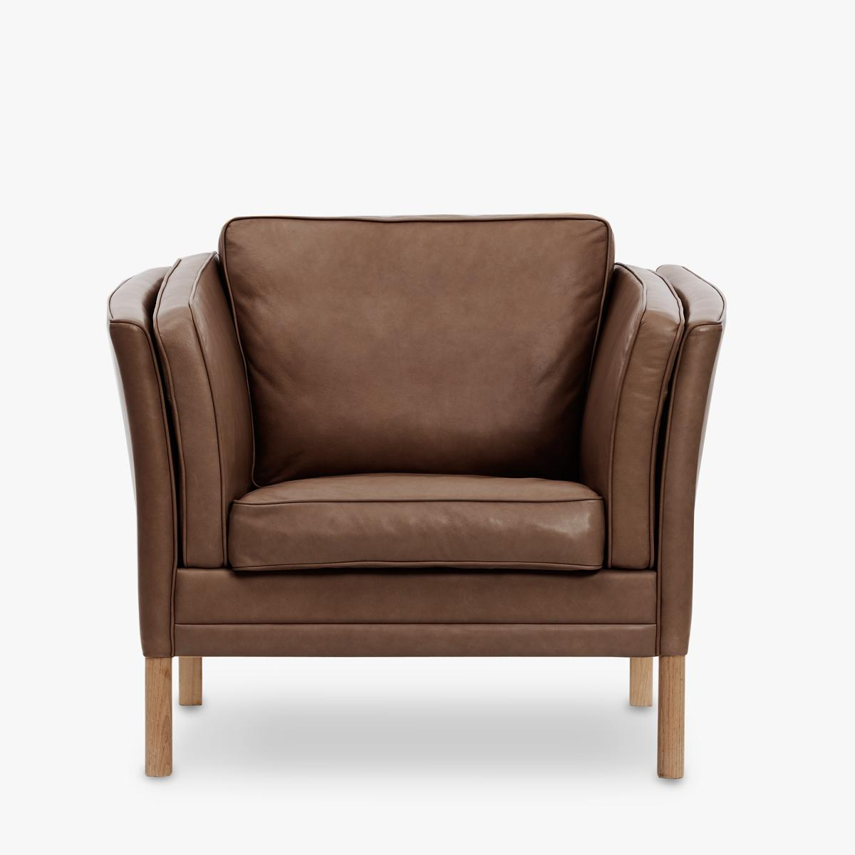 Klassik-Easy-Chair-Leather-Tobacco-Front-1200