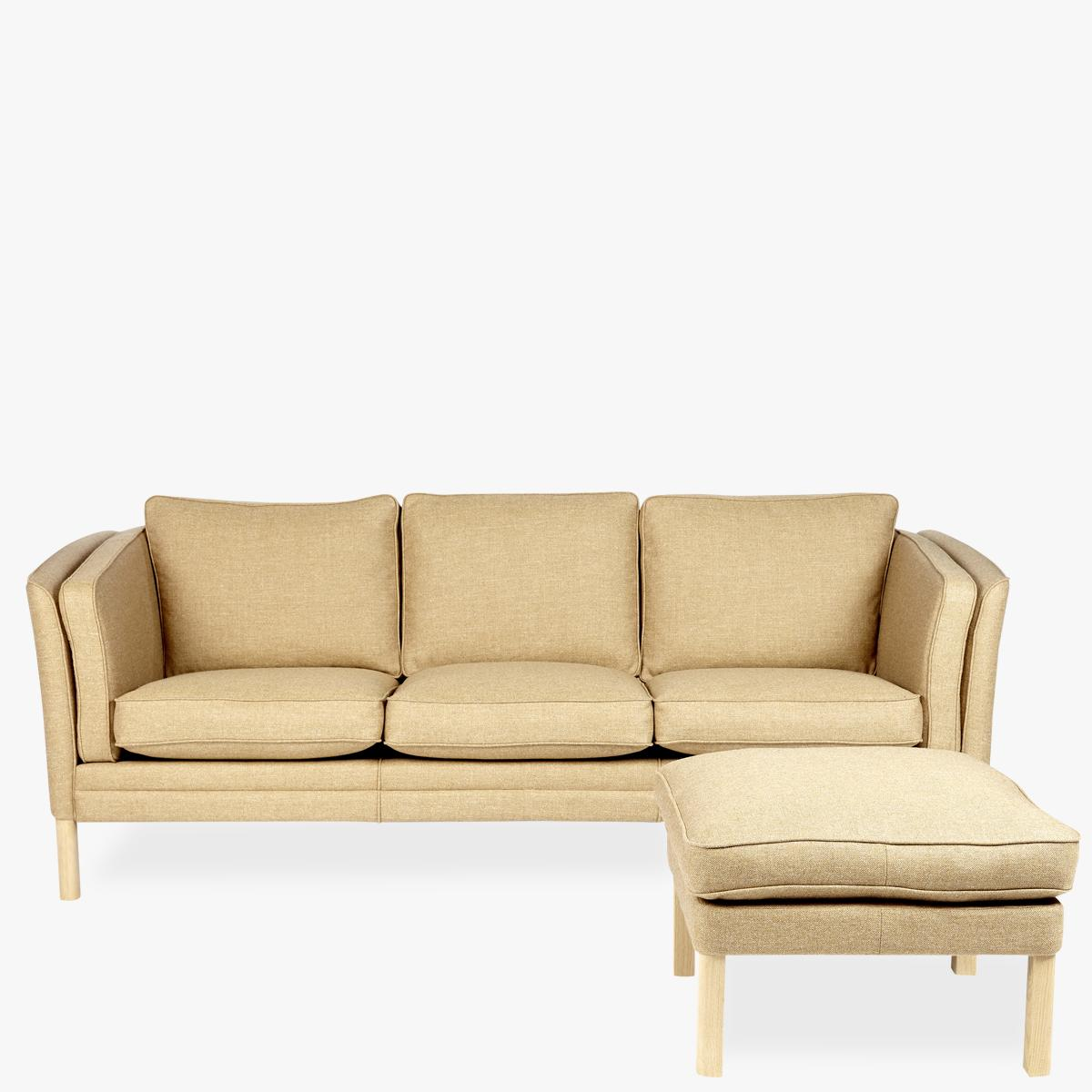 Klassik-Sofa-Fabric-Tan-Front-Footstool-1200
