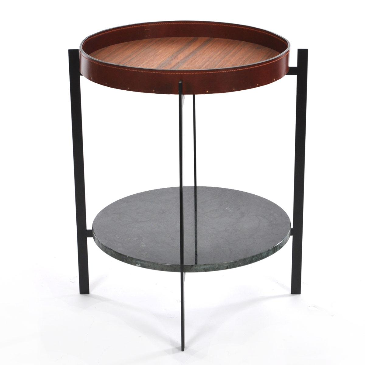 DECK TABLE_1200_0003_Deck Table cognac leather,indio,Black