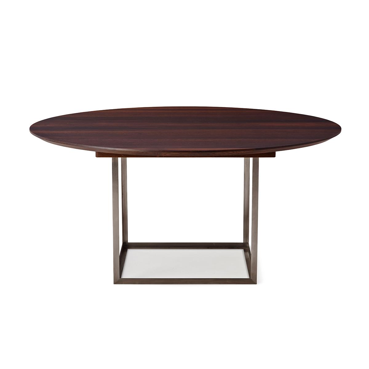 Jewel-Table-Round-Walnut-Stainless-Table-LR