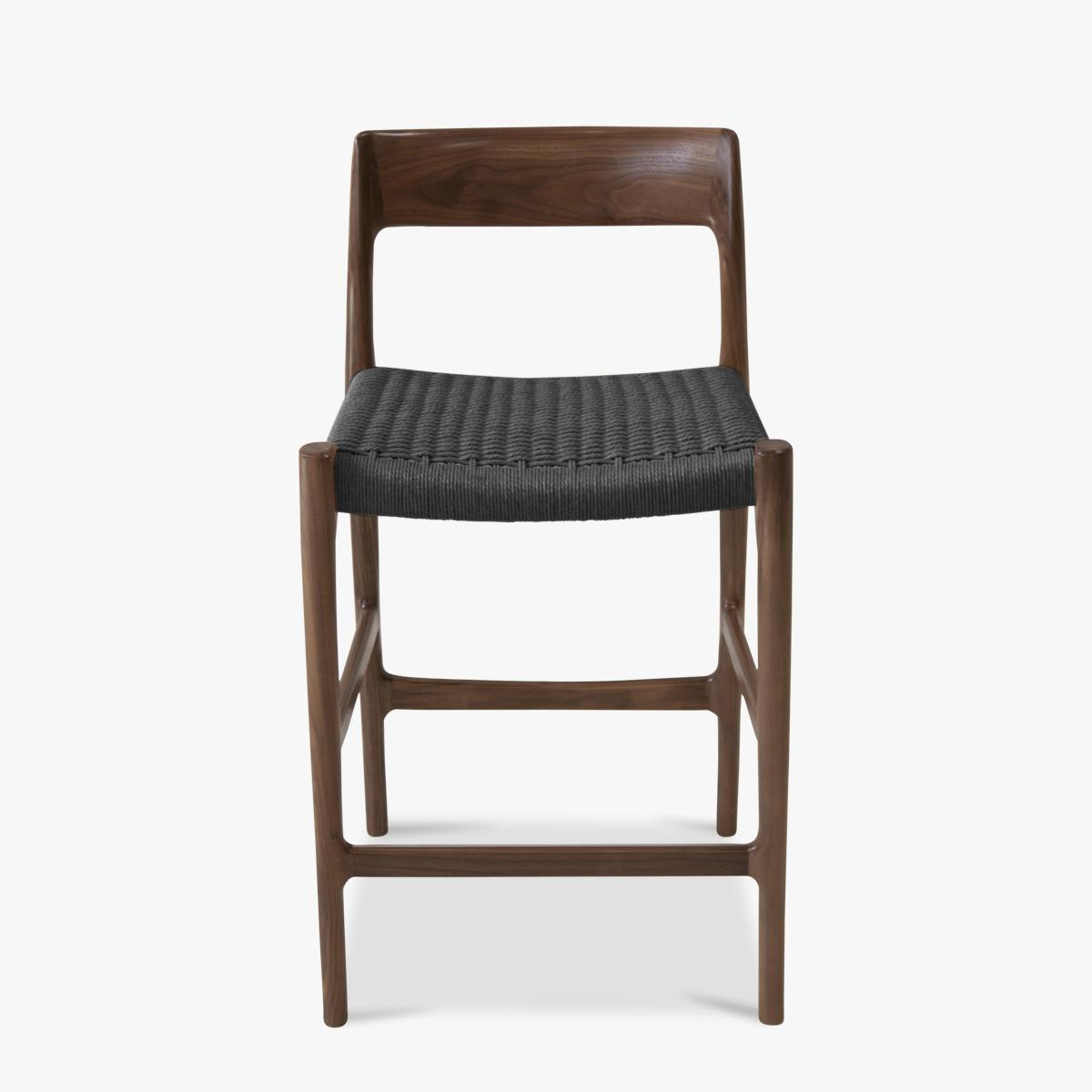 Moller Counterstool Walnut Black Paper Cord -1200