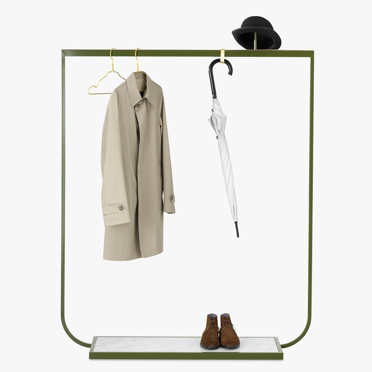 Tati Coat Rack Green Khaki - Clothes-1200