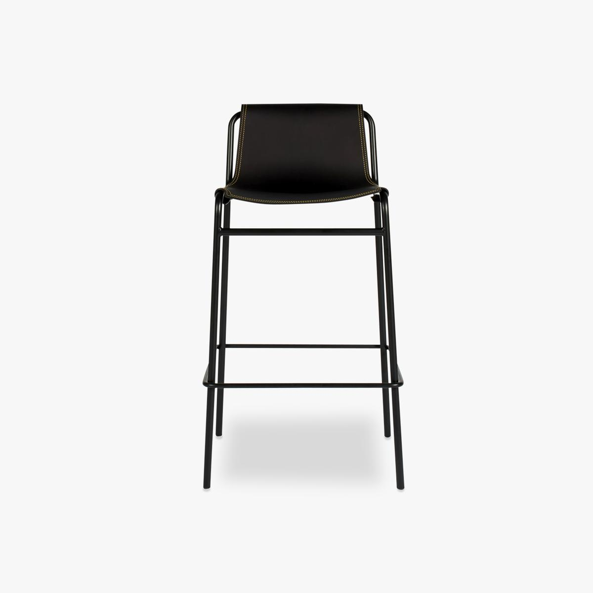 September Stool Black Front HR-1200