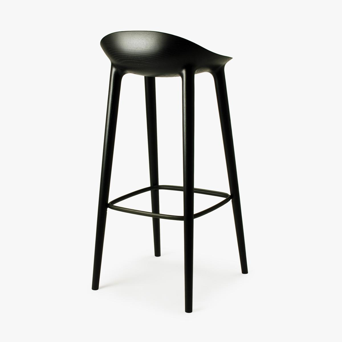 Bar Stool Black Ash Black Back Side 3