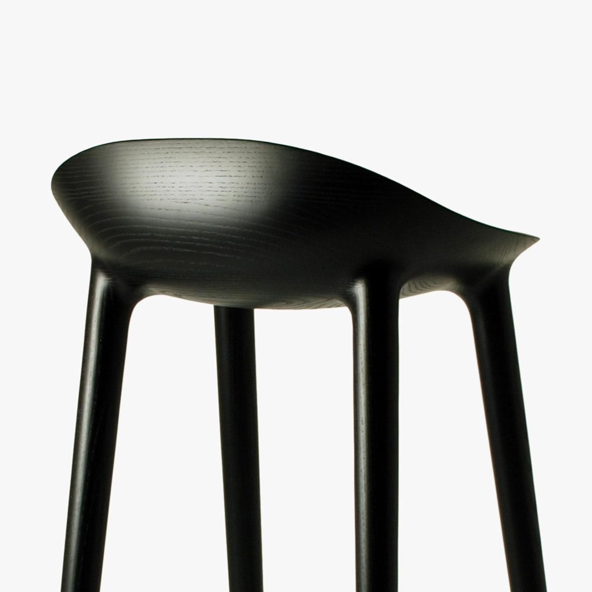 Bar Stool Black Ash Black Back Side 3_1200
