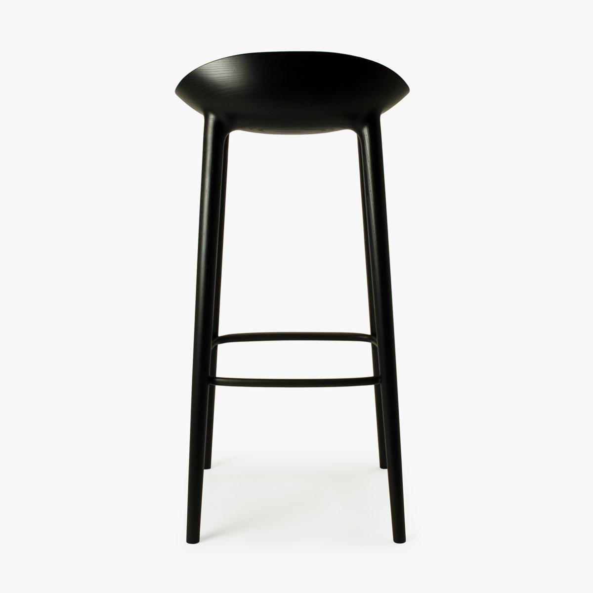 Bar Stool Black Ash Black Back