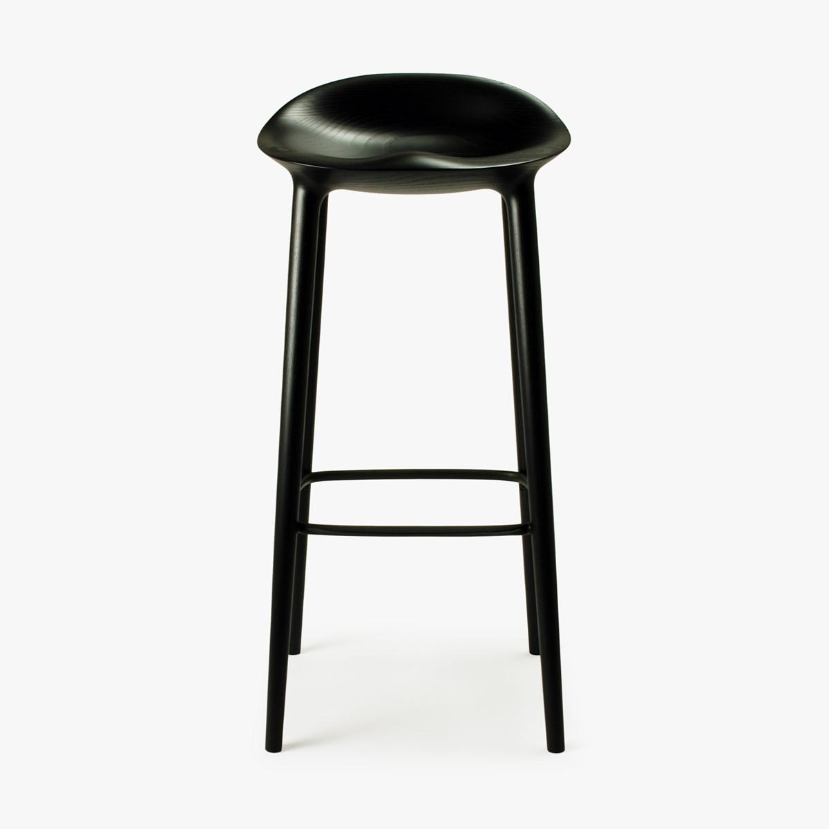 Bar Stool Black Ash Black Front