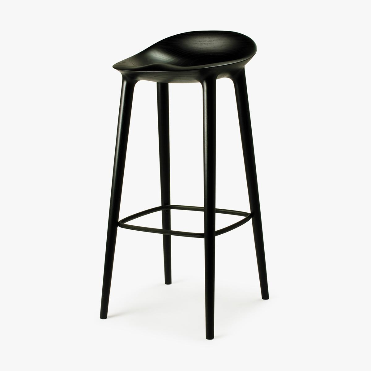Bar Stool Black Ash Black Side 4