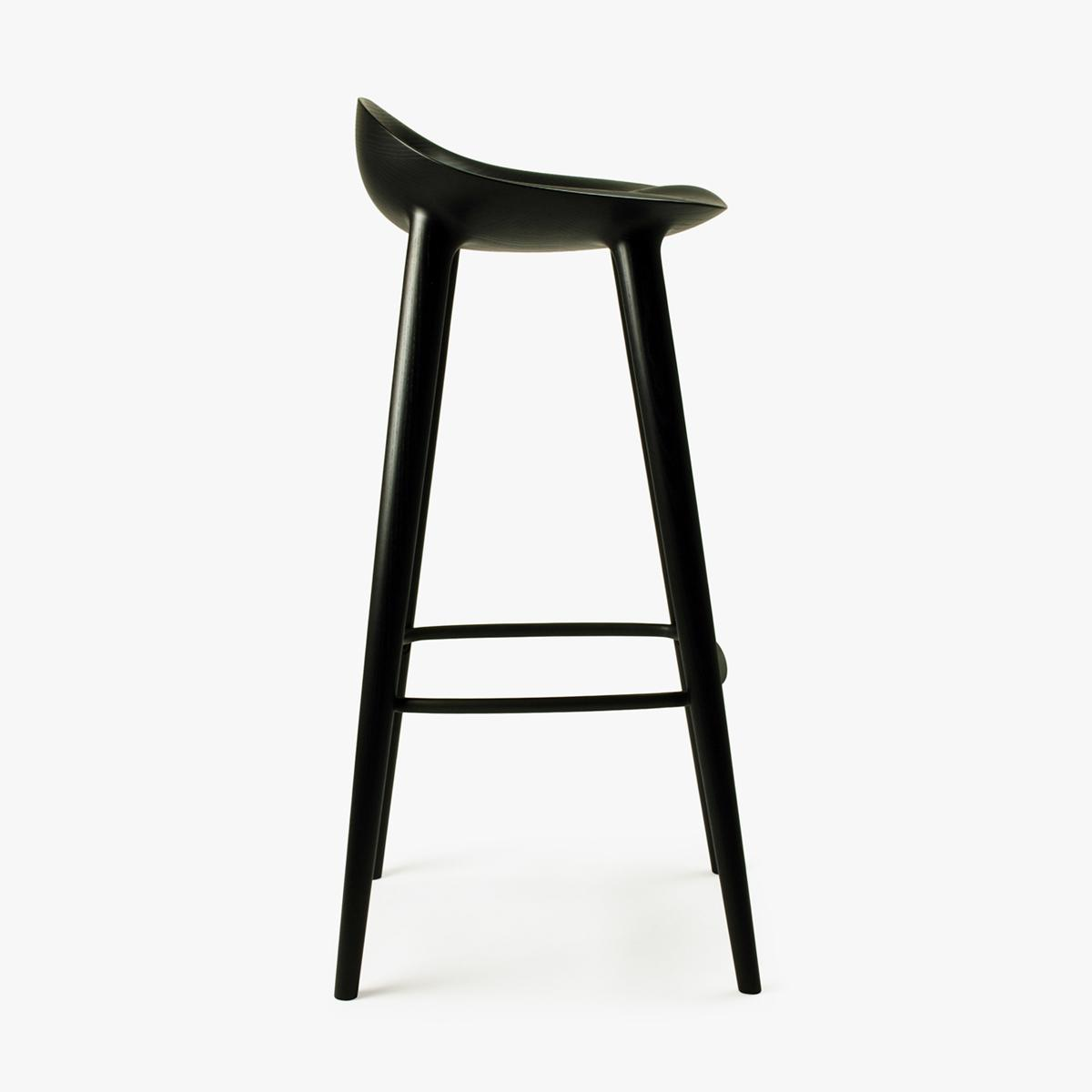 Bar Stool Black Ash Black Side 90